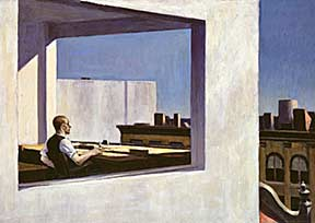 Office in a Small City - Oil painting by Edward Hopper
