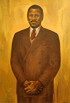Painting of Paul Robeson by Edward Biberman