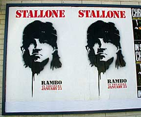 Rambo IV poster on the streets of Los Angeles
