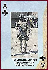 Pentagon Archaeology Awareness playing card
