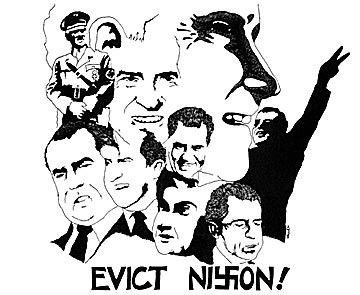 Evict Nixon -Poster by Mark Vallen, 1971