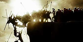 Scene from the movie, 300
