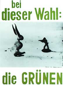 Green Party election poster designed by Joseph Beuys