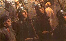 SS Guards - Painting by Ferdinand Staeger