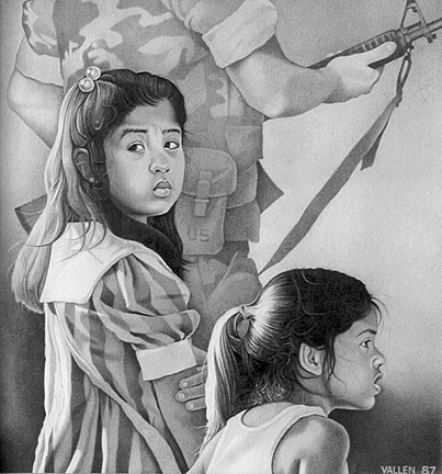 Drawing by Mark Vallen